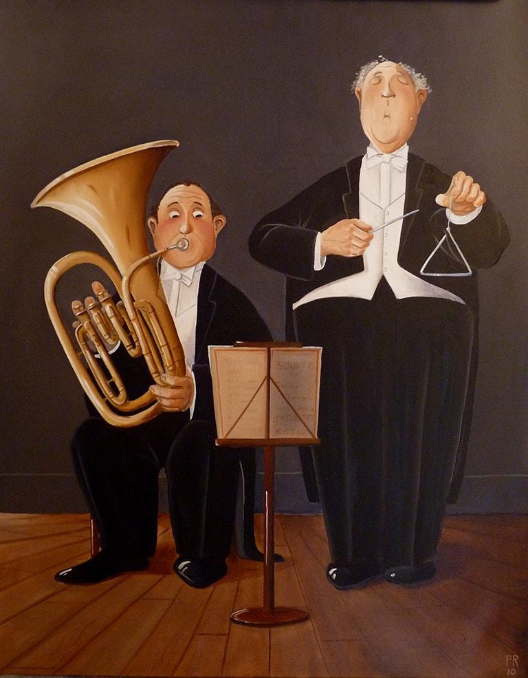 12 la fameuse sonate pour tuba et triangle 92x73