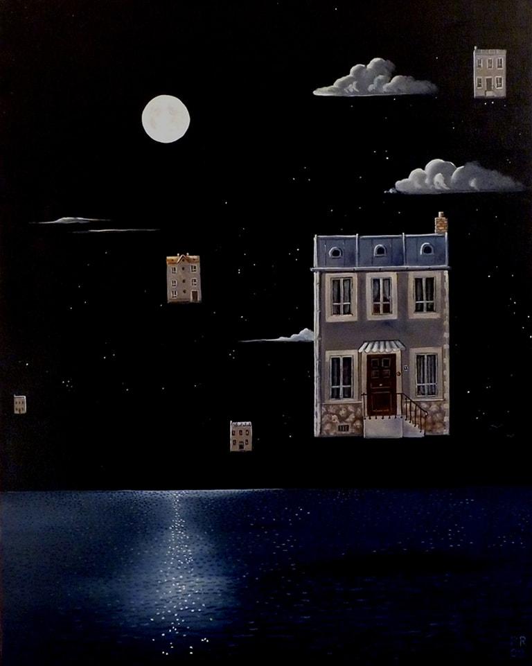 19 la nuit de la pleine lune 92x73