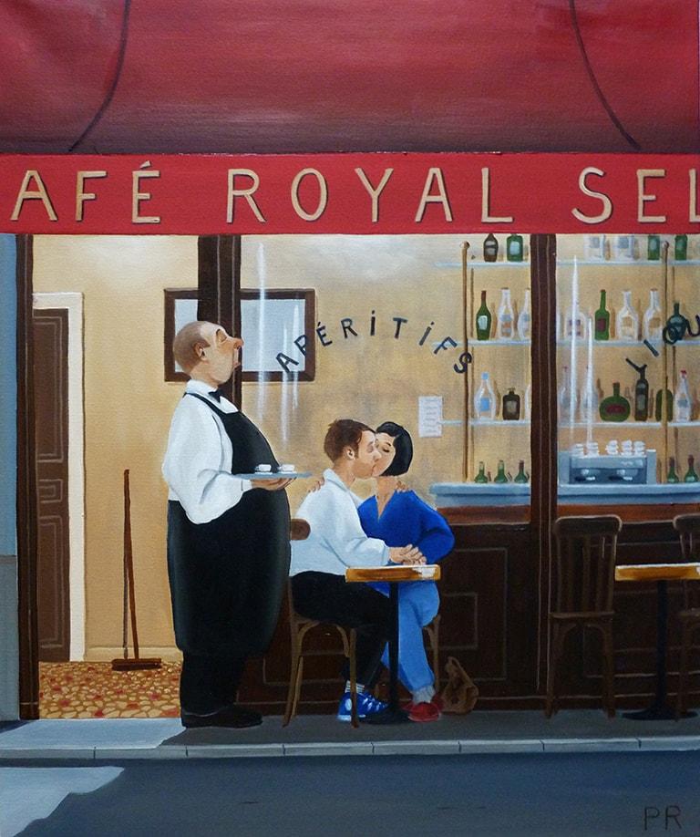 659 deux petits cafes 54x65